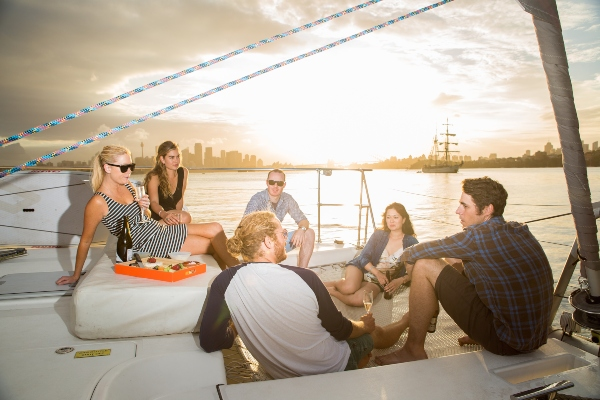 Barefoot Group on Bow Boat027 600x400